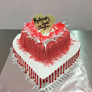 Double Step Heart Cake 3 Kg